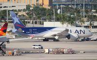CC-BBH @ MIA - LAN 787-8 - by Florida Metal