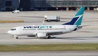 C-GWSH @ MIA - West Jet - by Florida Metal