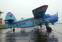 B-8729 @ XUXJ - Yunshuji Y-5B (K) [0404] (Civil Aviation Flight University China) Chengdu-Xinjin~B 04/11/2008 - by Ray Barber