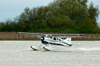 C-GOBC @ YVR - Take off from the Fraser River - by metricbolt