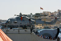 810 - French Navy Lynx on deck at the Grand Harbour - by Nicolai Schembri