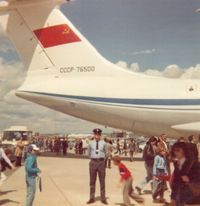 CCCP-76500 - My first sighting of this enormous Aircraft at the Paris Air Show in 1977. - by David Ahearn