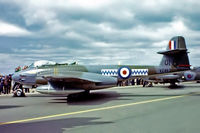 VZ467 @ EGVI - Gloster Meteor F.8 [G5/361641] (Royal Air Force) RAF Greenham Common~G 01/06/1980. From a slide.