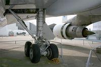 F-BPVJ @ LFPB - Boeing 747-128, Lateral main landing gear,  Air & Space Museum Paris-Le Bourget (LFPB-LBG) - by Yves-Q
