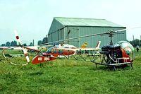 OO-RDG @ EBGB - Bell 47G-2 [1335] Grimbergen~OO 13/08/1977