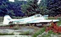 OO-MVD @ EBGT - Morane-Saulnier MS.570 [01] Ghent~OO 14/08/1977. From a slide.