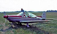 OY-BKC @ EKVJ - Laverda F.8L Falco IV [414] Stauning~OY 05/06/1982. From a slide.