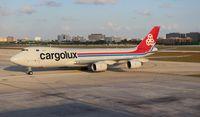 LX-VCB @ MIA - Cargolux 747-800