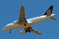 OO-SSC @ EGLL - Airbus A319-112 [1086] (Brussels Airlines) Home~G 16/07/2014. On approach 27R.