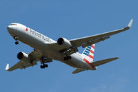 N349AN @ EGLL - Boeing 767-323ER [33088] (American Airlines) Home~G 29/07/2014. On approach 27R.