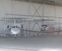 N31HD @ KMHR - A local 1998 Cessna 525 (CJ1) inside one of the larger hangars along with a PC-12 at Mather Airport, Sacramento, CA. - by Chris Leipelt