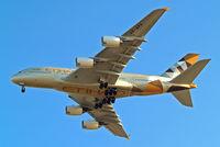 A6-APA @ EGLL - Airbus A380-861 [166] (Etihad Airways) Home~G 14/04/2015. On approach 27R.