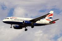 G-EUPJ @ EGLL - Airbus A319-131 [1232] (British Airways) Heathrow~G 01/09/2006 On finals 27L.