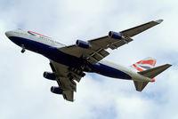 G-BNLP @ EGLL - Boeing 747-436 [24058] (British Airways) Home~G 16/08/2014. On approach 27R.