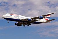 G-BNLP @ EGLL - Boeing 747-436 [24058] (British Airways) Heathrow ~G 01/09/2006. On finals 27L.