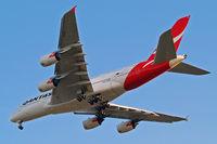 VH-OQC @ EGLL - Airbus A380-841 [022] (QANTAS) Home~G 21/08/2014. On approach 27R.