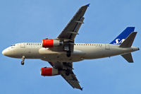 OY-KBR @ EGLL - Airbus A319-131 [3231] (SAS Scandinavian Airlines) Home~G 27/09/2009. On approach 27R.