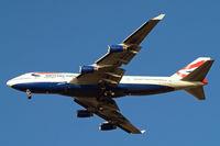 G-CIVY @ EGLL - Boeing 747-436 [28853] (British Airways) Home~G 31/01/2011. On approach 27R.