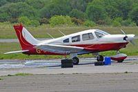 G-BTKX @ EGFH - Archer II, previously N47866, Eaglescott based, seen parked up. - by Derek Flewin