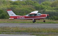 G-GCWS @ EGFH - Visiting Cessna Cardinal departing Runway 28. Previously registered SE-CWS - by Roger Winser