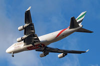 OO-THC @ EGLL - Boeing 747-4HAERF [35235] (Emirates Airlines) Home~G 04/03/2015. On approach 27R.