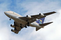 HZ-AIF @ EGLL - Boeing 747SP-68 [22503] (Saudi Arabian Royal Flight) Home~G 22/08/2009. On approach 27R.