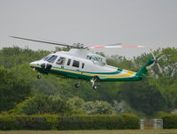 M-ONTY @ EGLD - Sikorsky S-76C at Denham - by moxy