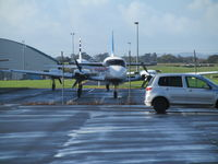 ZK-VIP @ NZAA - Parked in unusual spot outside air NZ maintenance along with anther PA31 of Great Barrier Airlines. - by magnaman