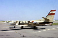 OE-GAU @ LFPN - Cessna Citation II [550-0028] Toussus Le Noble~F 14/06/1981