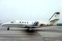 SE-DEZ @ EHAM - Cessna Citation I SP [501-0279] Amsterdam-Schiphol~PH 12/05/1979. From a slide.