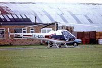 EC-CCL @ EGKA - Enstrom F28A [101] Shoreham~G 04/08/1978. From a slide.