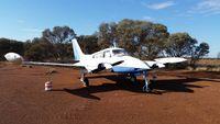 VH-DWS @ YLEO - Cessna 310K VH-DWS Leonora WA - by R. Holgate