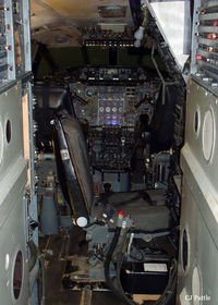 G-AXDN @ EGSU - A view of the cockpit area of Concorde 101 G-AXDN on display at the IWM Duxford - by Clive Pattle