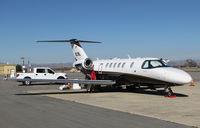 N219L @ KPRB - Estrella Aviation LLC (Phoenix, AZ) Cesnna 525C having mechanics check out starboard engine @ Paso Robles Municipal Airport, C - by Steve Nation