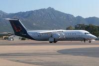 OO-DWE @ LFKC - Parked. Inaugural Flight from Bruxelles