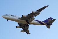 HS-TGZ @ EGLL - Boeing 747-4D7 [28706] (Thai Airways) Home~G 08/06/2014. On approach 27R.