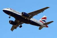 G-EUPG @ EGLL - Airbus A319-131 [1222] (British Airways) Home~G 31/03/2015. On approach 27R.