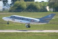 129 @ LFRJ - French Naval Aviation Dassault Falcon 10 MER, Landing rwy 08, Landivisiau Naval Air Base (LFRJ) - by Yves-Q