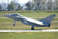 12 @ LFRJ - Dassault Rafale M, Landing rwy 08, Landivisiau Naval Air Base (LFRJ) - by Yves-Q
