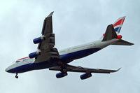 G-BYGA @ EGLL - Boeing 747-436 [28855] (British Airways) Home~G 07/05/2015. On approach 27R.