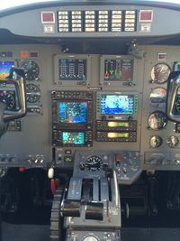 N98Q @ T41 - CE500, N98Q, cockpit - by Mike King