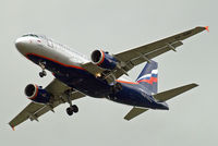 VP-BWK @ EGLL - Airbus A319-111 [2222] (Aeroflot Russian Airlines) Home~G 07/06/2010. On approach 27R.