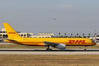 D-ALEE @ LMML - B757 D-ALEE Aerotrans DHL - by Raymond Zammit