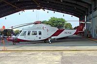 PK-PUA @ WIIP - PK-PUA   Sikorsky S-76A [760179] (Pelita Air Service) Pondok Cabe~PK 25/10/2006