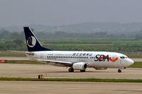 B-5099 @ ZGGG - Boeing 737-36Q [29189] (Shandong Airlines) Guangzhou-Baiyun~B 24/10/2006 - by Ray Barber