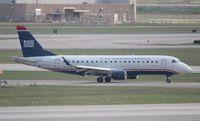 N114HQ @ DTW - US Airways E175