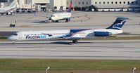 N120MN @ MIA - Falcon Air MD-83