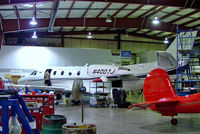 N4007J @ CYKF - Cessna Citation Excel S [560-5539] (Cessna Aircraft Co) Kitchener-Waterloo Regional~C 24/06/2005. Being prepared for delivery to CAAC flight Inspection Centre Beijing~B. Taken in a crowded hangar.