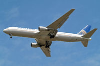 N656UA @ EGLL - Boeing 767-322ER [25394] (United Airlines) Home~G 01/06/2015. On approach 27R.
