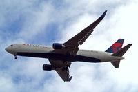 N193DN @ EGLL - Boeing 767-332ER [28450] (Delta Air Lines) Home~G 03/06/2015. On approach 27R.